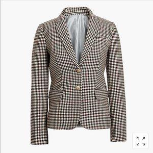 J. Crew Factory patterned schoolboy blazer